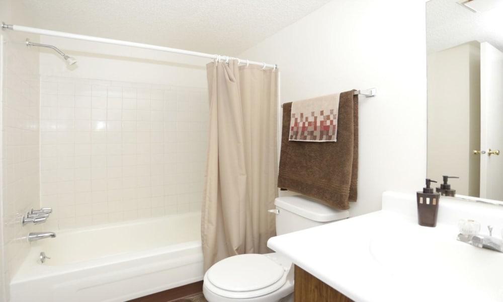 Bathroom at Arbors of Battle Creek Apartments & Townhomes in Battle Creek, Michigan