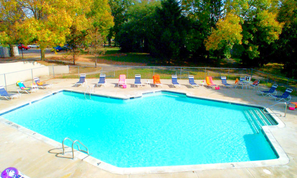 Swimming pool at Autumn Woods Apartments & Townhomes in Jackson, Michigan