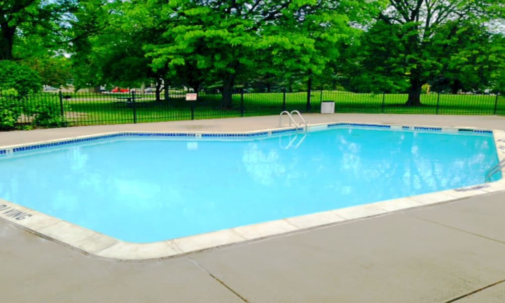 Sparkling pool at Autumn Woods Apartments & Townhomes in Jackson, Michigan