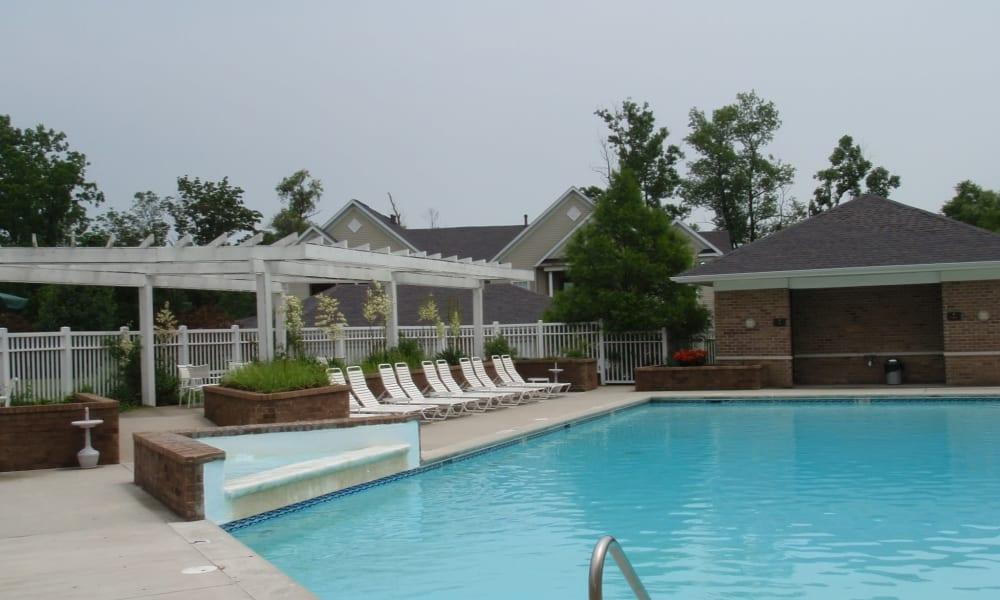 Swimming pool at Avalon at Northbrook Apartments & Townhomes in Fort Wayne, Indiana