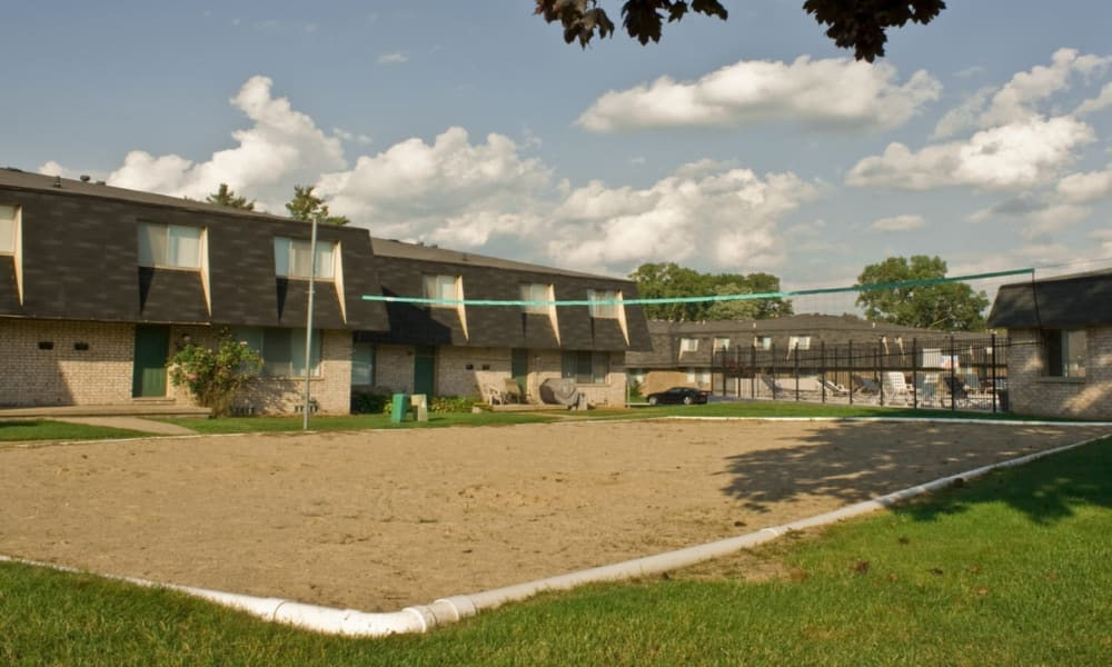 Sand Volleyball court at Briarcliffe Apartments & Townhomes in Lansing, Michigan