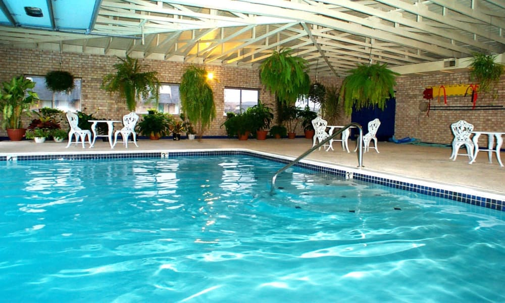 Swimming pool at Briarcliffe Apartments & Townhomes in Lansing, Michigan