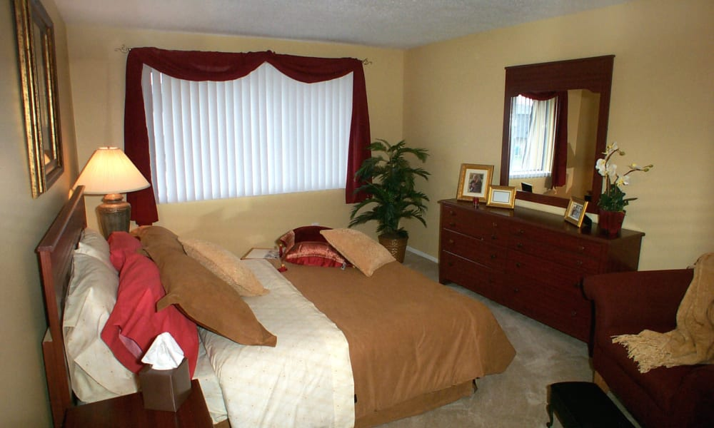 Spacious bedroom at Briarcliffe Apartments & Townhomes in Lansing, Michigan