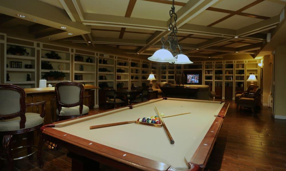 Billiards table at Camino Real Apartment Homes in Boca Raton, Florida