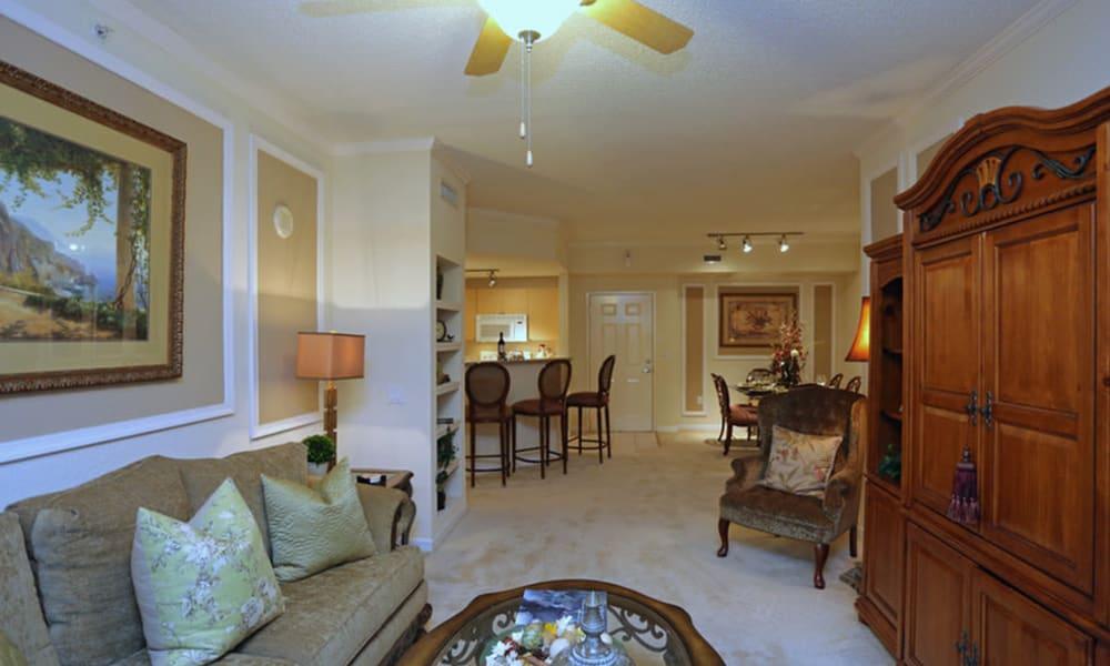 Living room at Camino Real Apartment Homes in Boca Raton, Florida