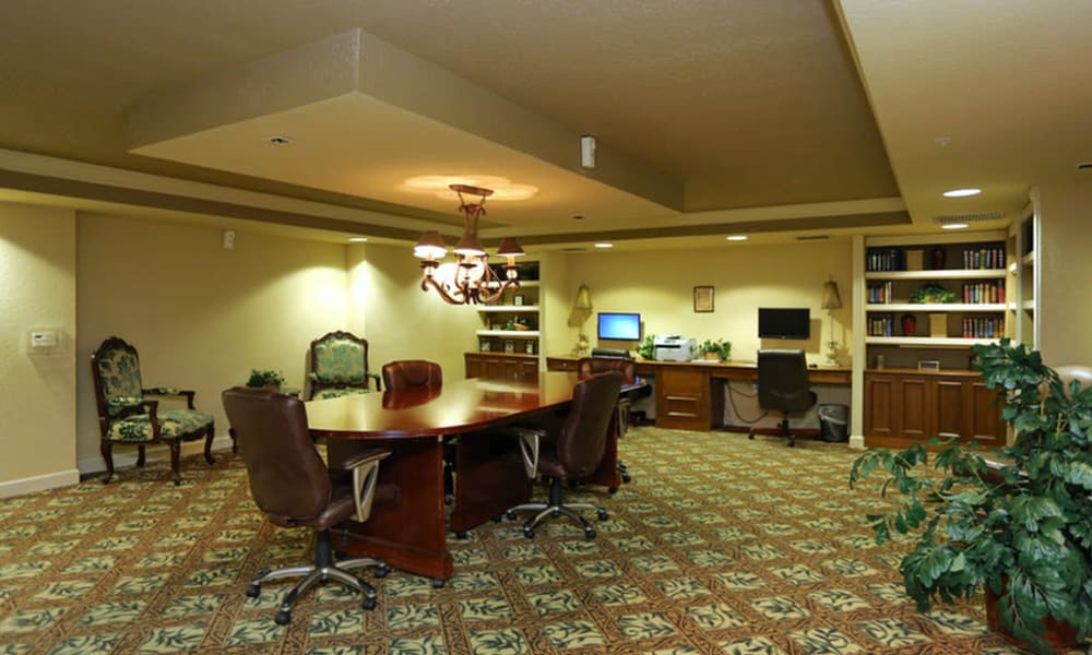 Business center at Camino Real Apartment Homes in Boca Raton, Florida