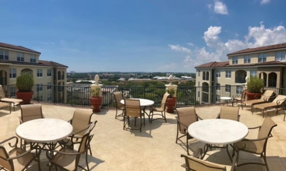 Deck with beautiful view at Camino Real Apartment Homes in Boca Raton, Florida