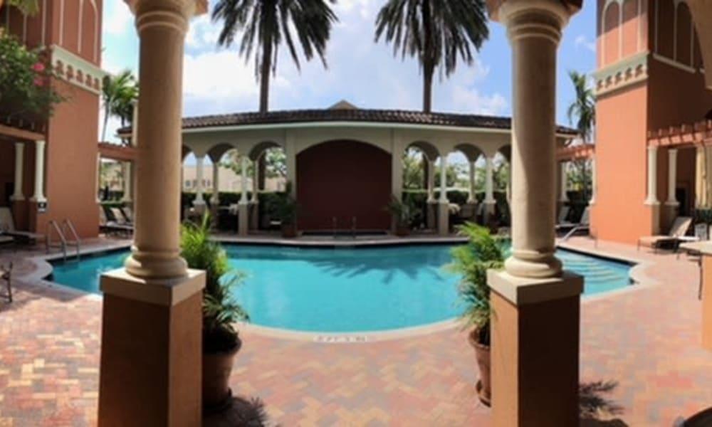 Swimming pool at Camino Real Apartment Homes in Boca Raton, Florida