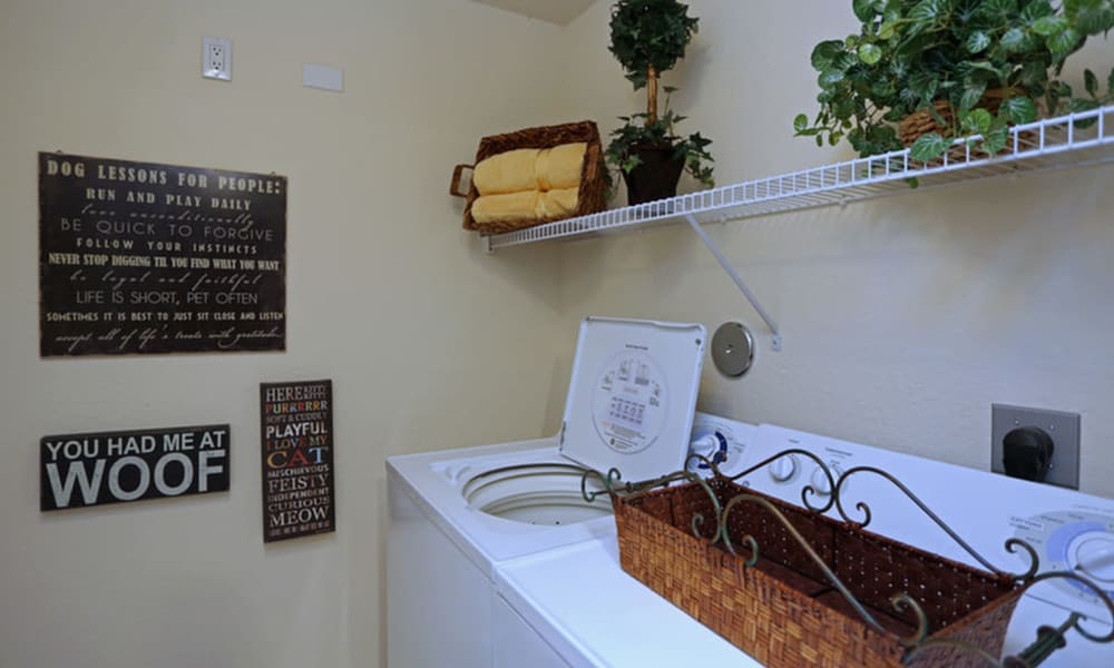 Washer and dryer at Camino Real Apartment Homes in Boca Raton, Florida