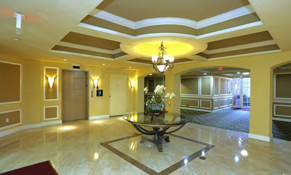 Lobby at Camino Real Apartment Homes in Boca Raton, Florida