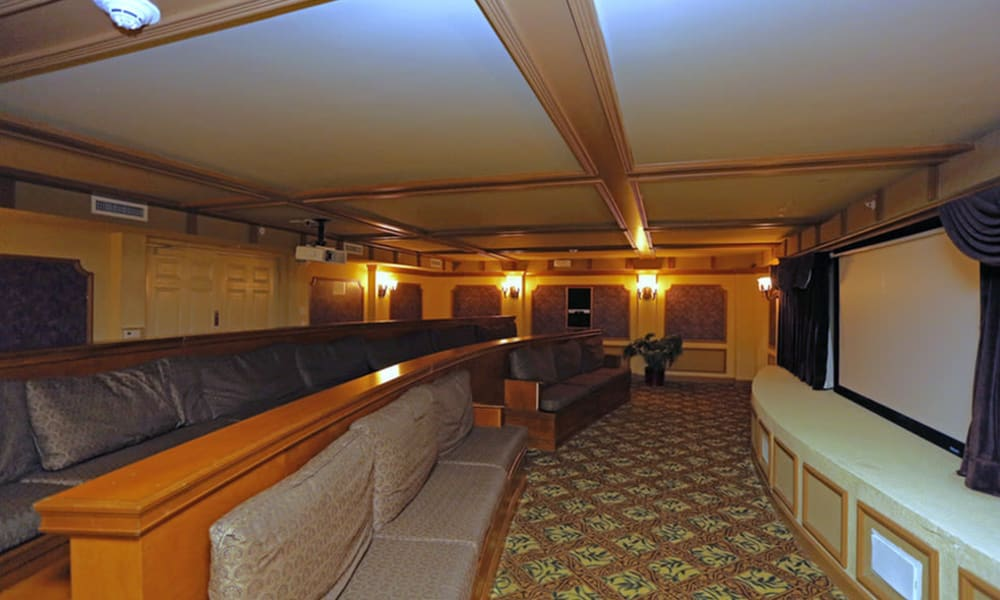 Movie theater room at Camino Real Apartment Homes in Boca Raton, Florida