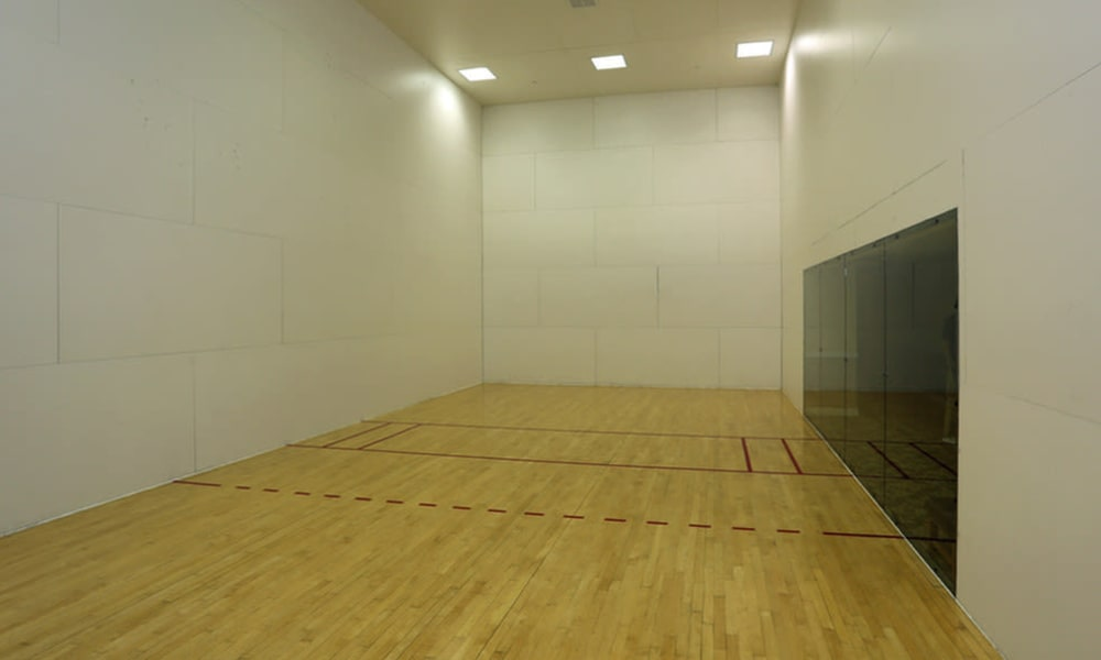 Racquetball court at Camino Real Apartment Homes in Boca Raton, Florida
