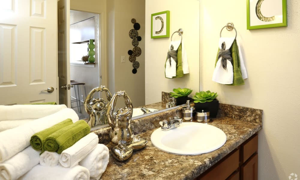 Bathroom at Century Lake Apartments in Cincinnati, Ohio