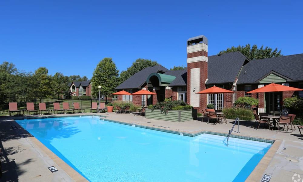 Sparkling pool at Century Lake Apartments in Cincinnati, Ohio