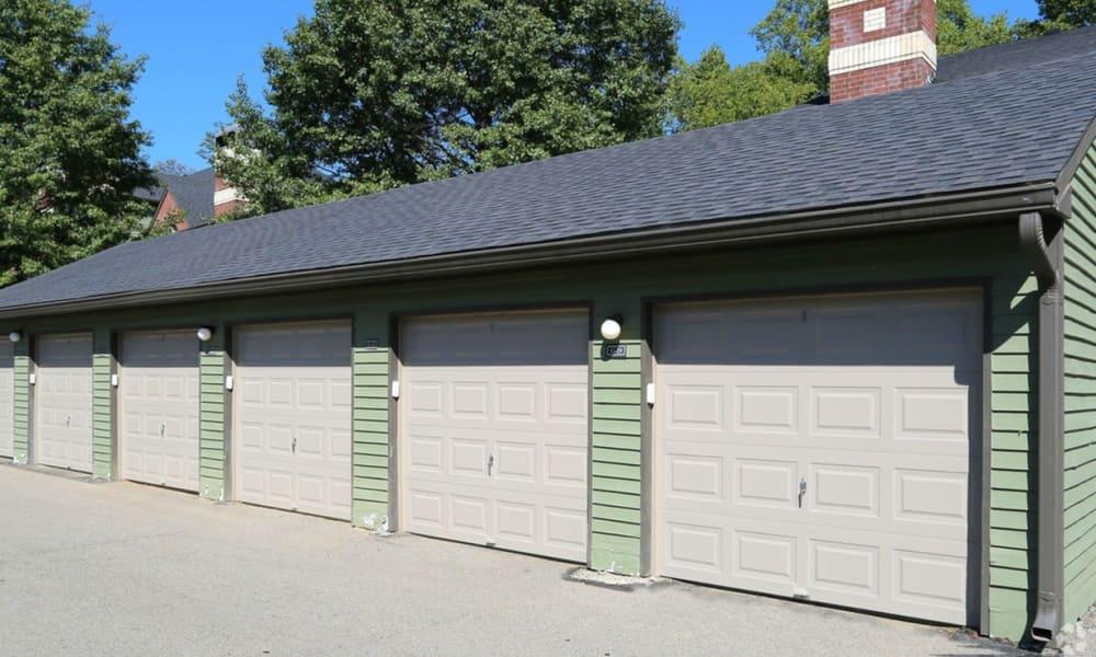 Garages at Century Lake Apartments in Cincinnati, Ohio