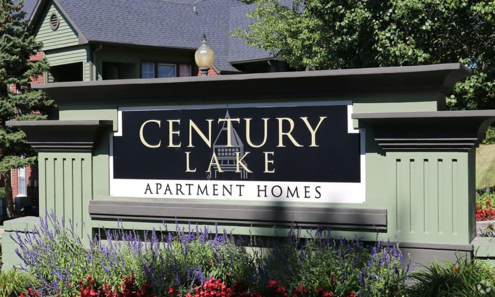 Front sign at Century Lake Apartments in Cincinnati, Ohio