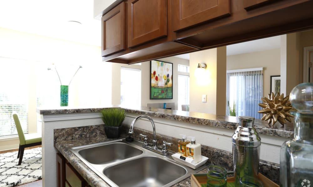 Kitchen sink at Century Lake Apartments in Cincinnati, Ohio
