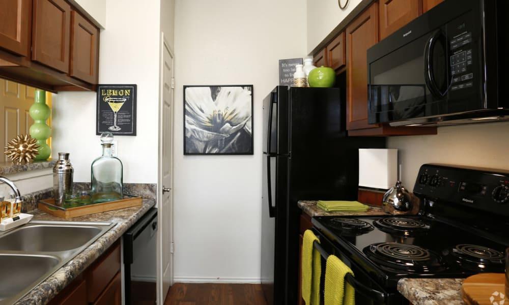 Kitchen at Century Lake Apartments in Cincinnati, Ohio