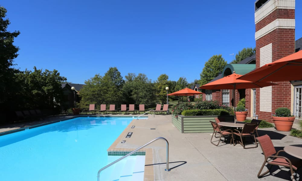 Swimming pool at Century Lake Apartments in Cincinnati, Ohio