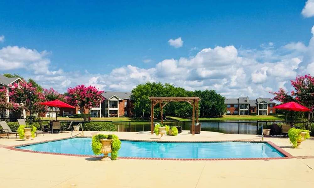 Swimming pool at Champion Lake Apartment Homes in Shreveport, Louisiana