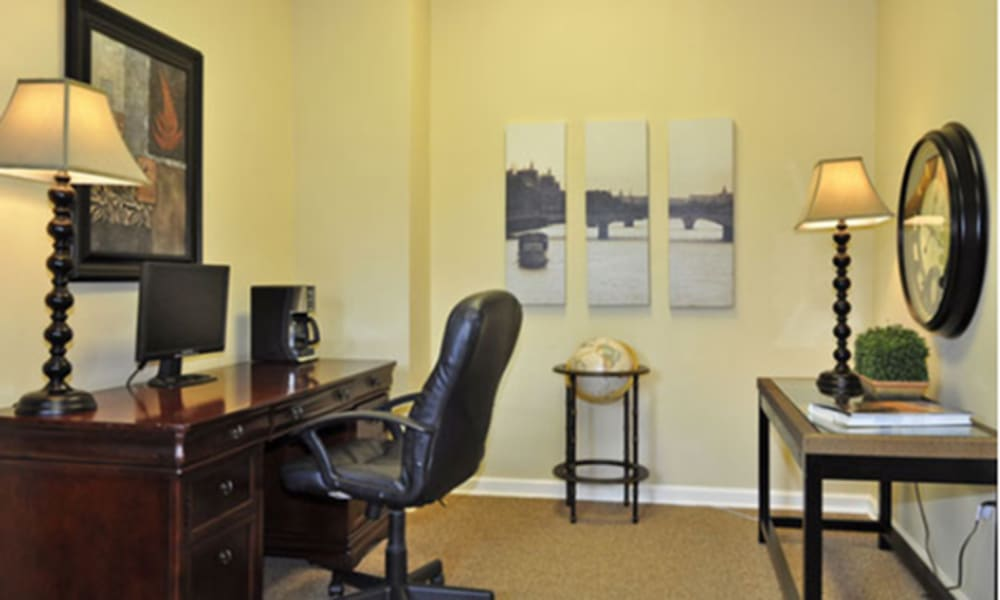 Office in model apartment home at Champion Lake Apartment Homes in Shreveport, Louisiana