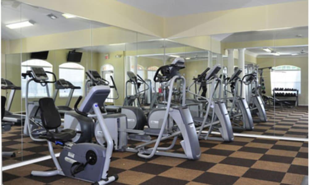 Fitness center at Champion Lake Apartment Homes in Shreveport, Louisiana