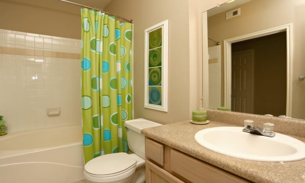 Bathroom at Champion Lake Apartment Homes in Shreveport, Louisiana
