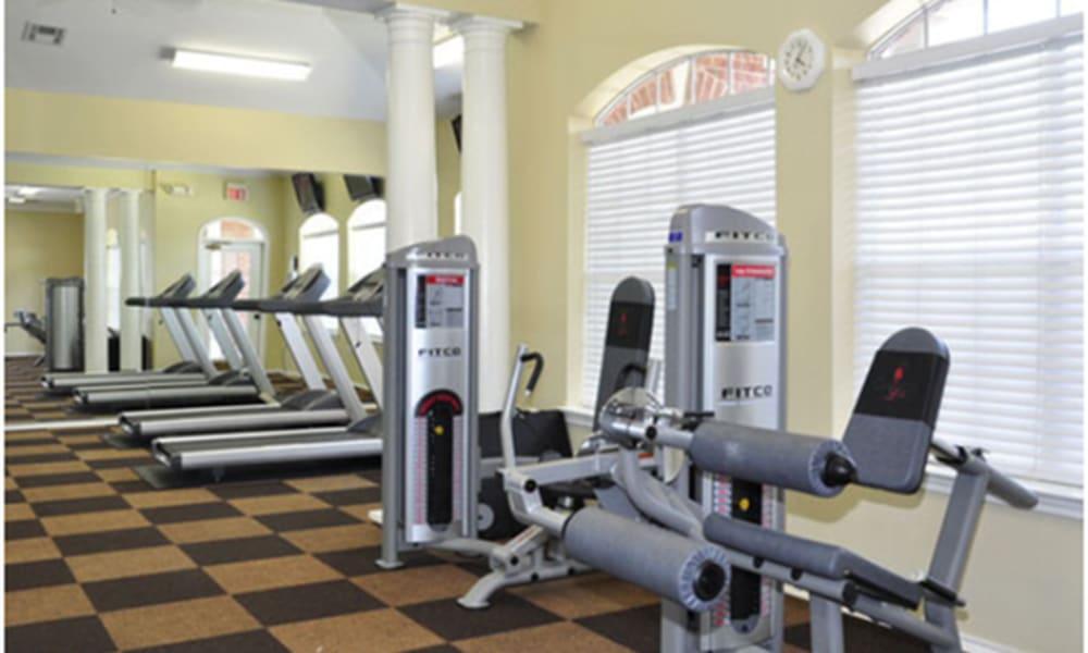 Treadmills at Champion Lake Apartment Homes in Shreveport, Louisiana