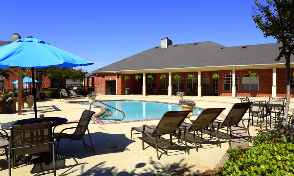 Pool patio at Champion Lake Apartment Homes in Shreveport, Louisiana