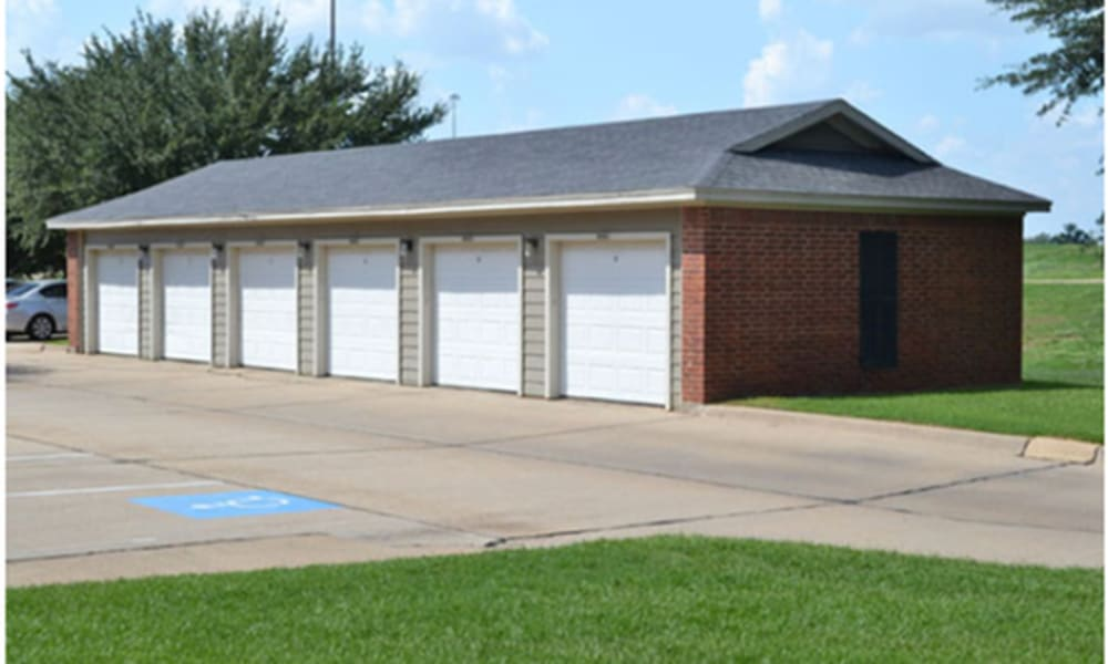 Garages at Champion Lake Apartment Homes in Shreveport, Louisiana