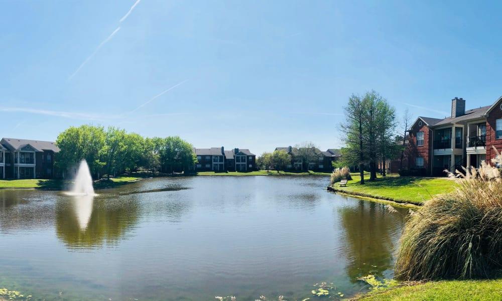 Fountain at Champion Lake Apartment Homes in Shreveport, Louisiana