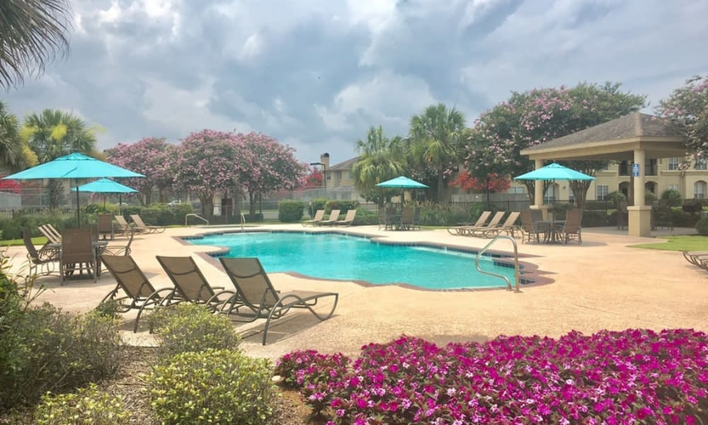 Pool at Chateau des Lions Apartment Homes in Lafayette, Louisiana