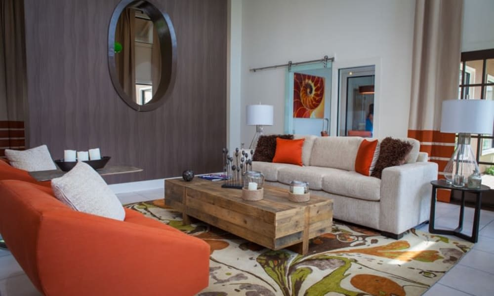 Resident lounge at Tuscany Pointe at Tampa Apartment Homes in Tampa, Florida