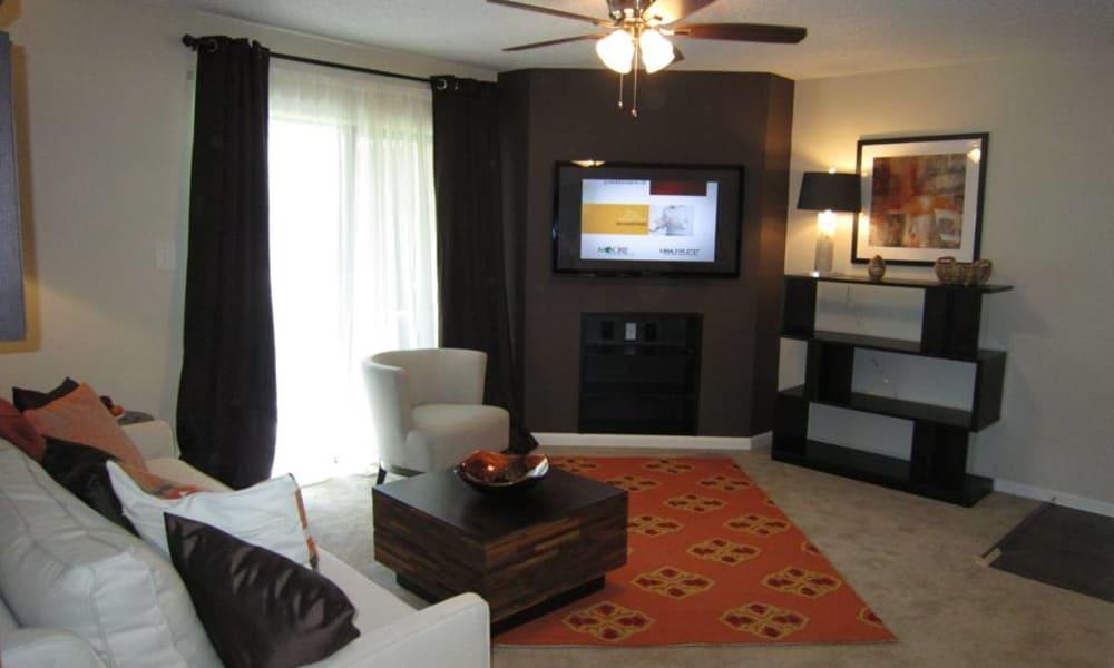 Living room at Tuscany Pointe at Tampa Apartment Homes in Tampa, Florida
