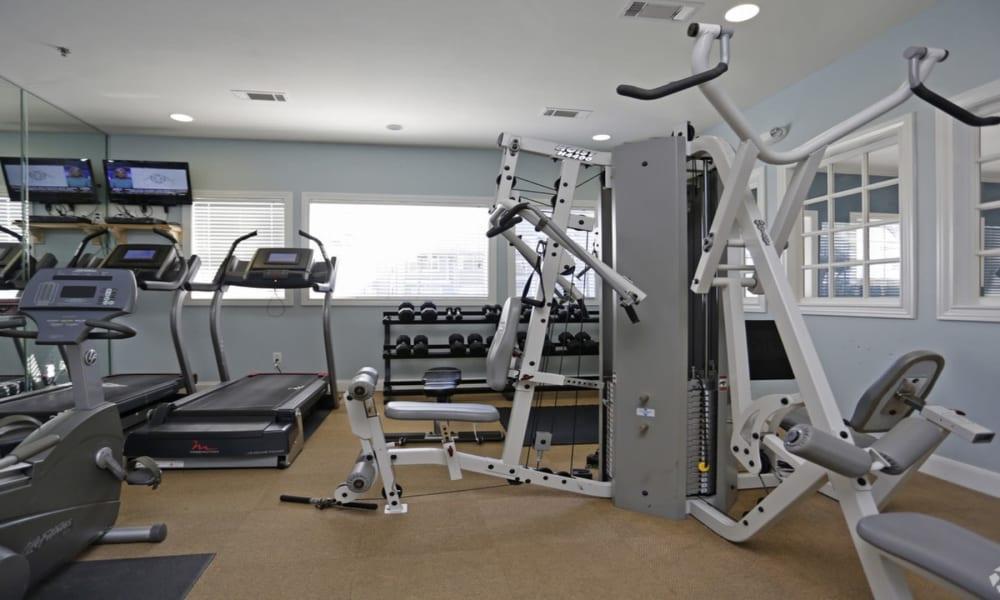 Fitness center at Villa du Lac Apartment Homes in Slidell, Louisiana