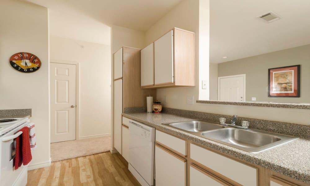 Spacious kitchen at Villa du Lac Apartment Homes in Slidell, Louisiana
