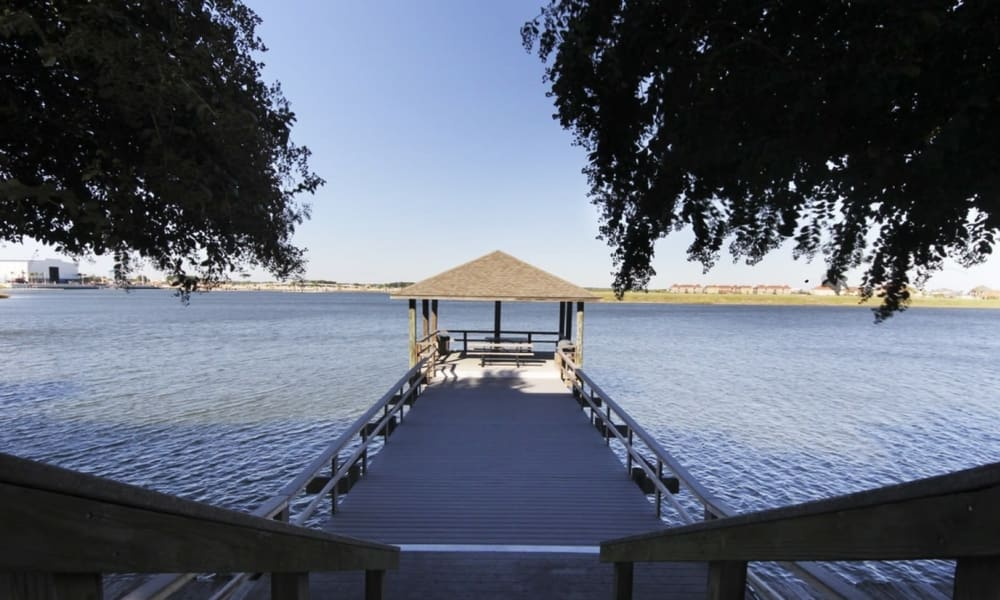 Pier at Villa du Lac Apartment Homes in Slidell, Louisiana