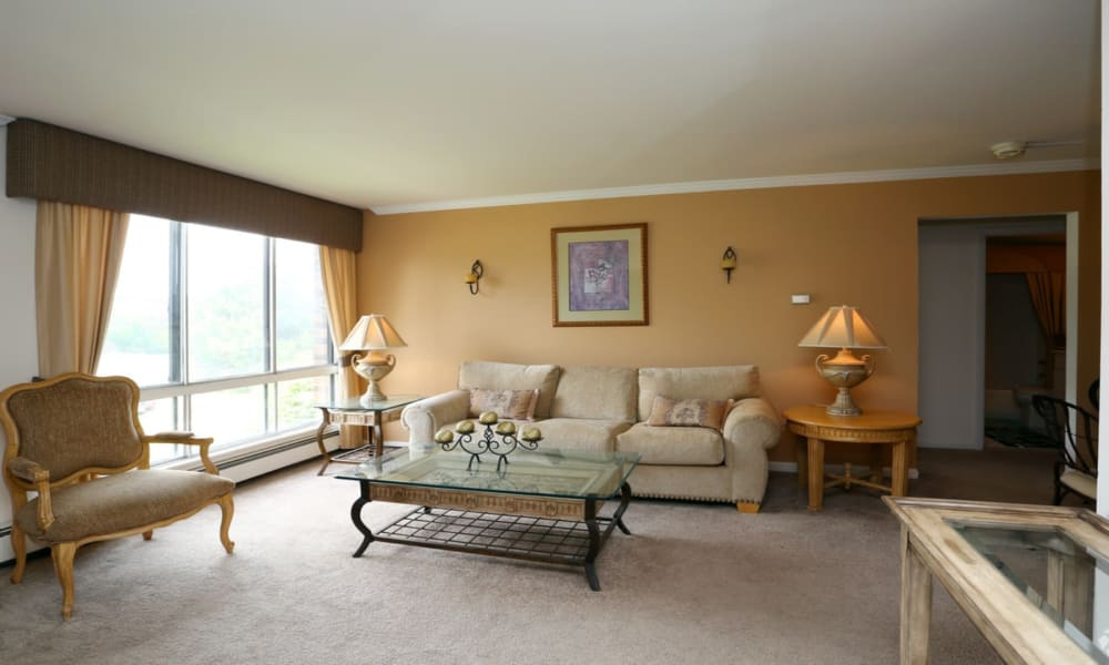 Living room at Windsor Lakes Apartment Homes in Woodridge, Illinois