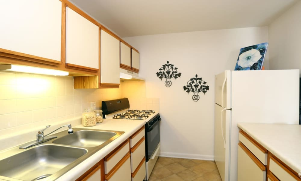 Kitchen at Windsor Lakes Apartment Homes in Woodridge, Illinois