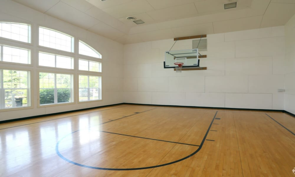 Indoor basketball court at Windsor Lakes Apartment Homes in Woodridge, Illinois