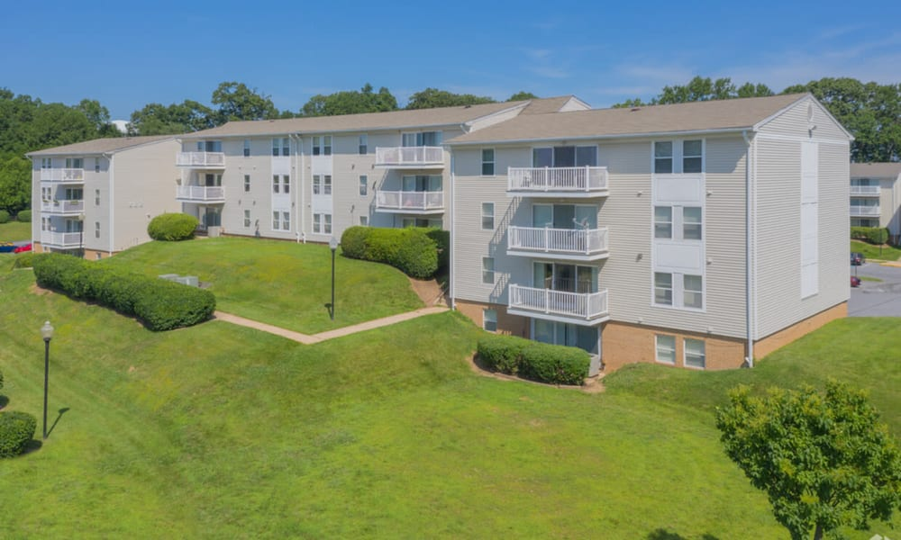 Apartment building at Morningside Apartments & Townhomes in Owings Mills, Maryland