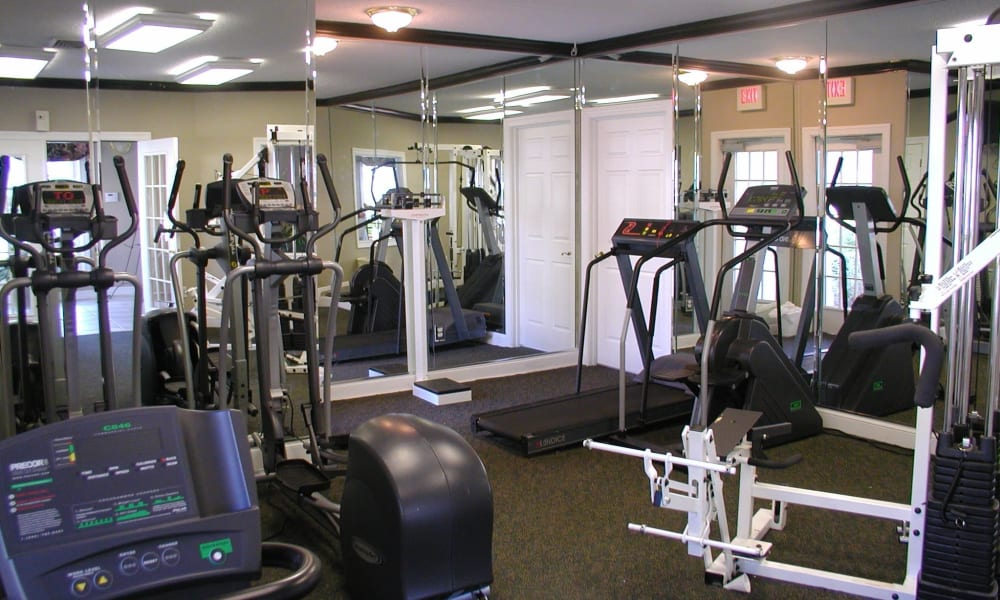 Fitness center at Park at Northside Apartments & Townhomes in Macon, Georgia