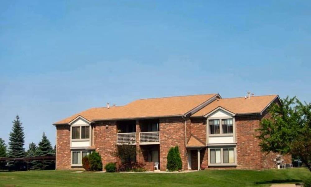 Apartment building at Pavilion Court Apartment Homes in Novi, Michigan