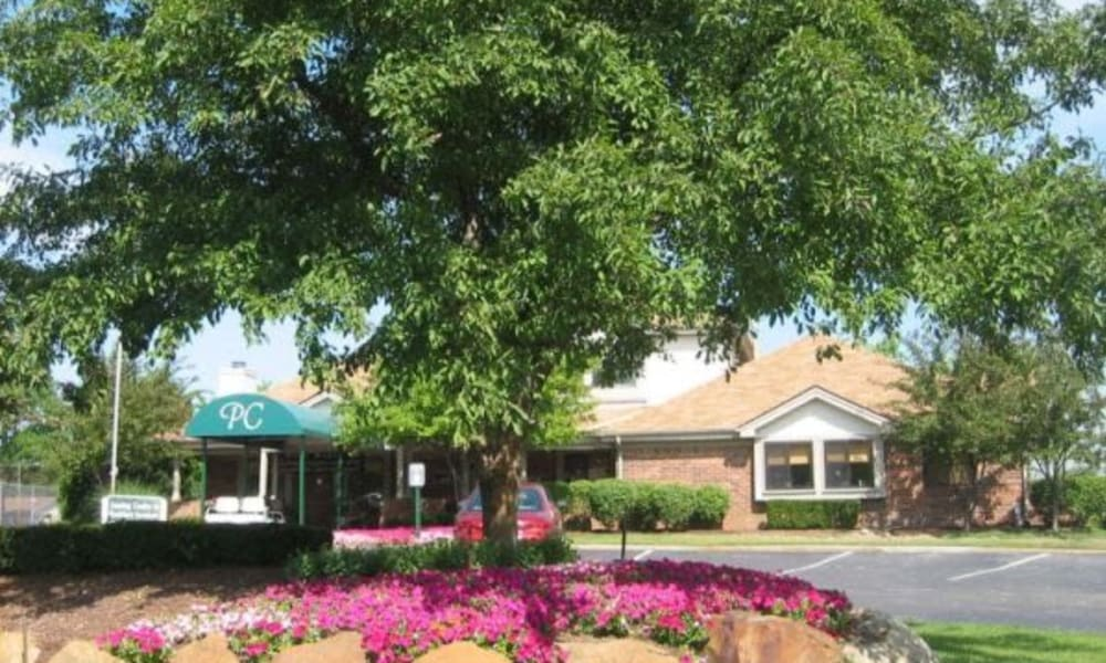 Leasing office parking at Pavilion Court Apartment Homes in Novi, Michigan
