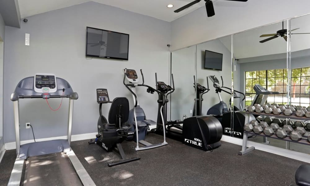 Gym at Peppertree Apartment Homes in Lafayette, Louisiana
