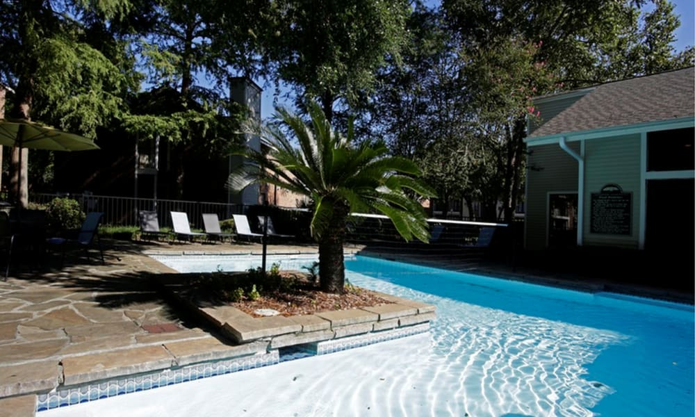 Pool at Peppertree Apartment Homes in Lafayette, Louisiana