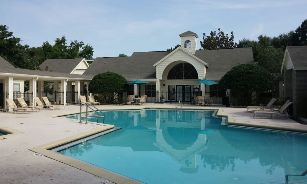 Sparkling pools at Promenade Apartment Homes in Winter Garden, Florida