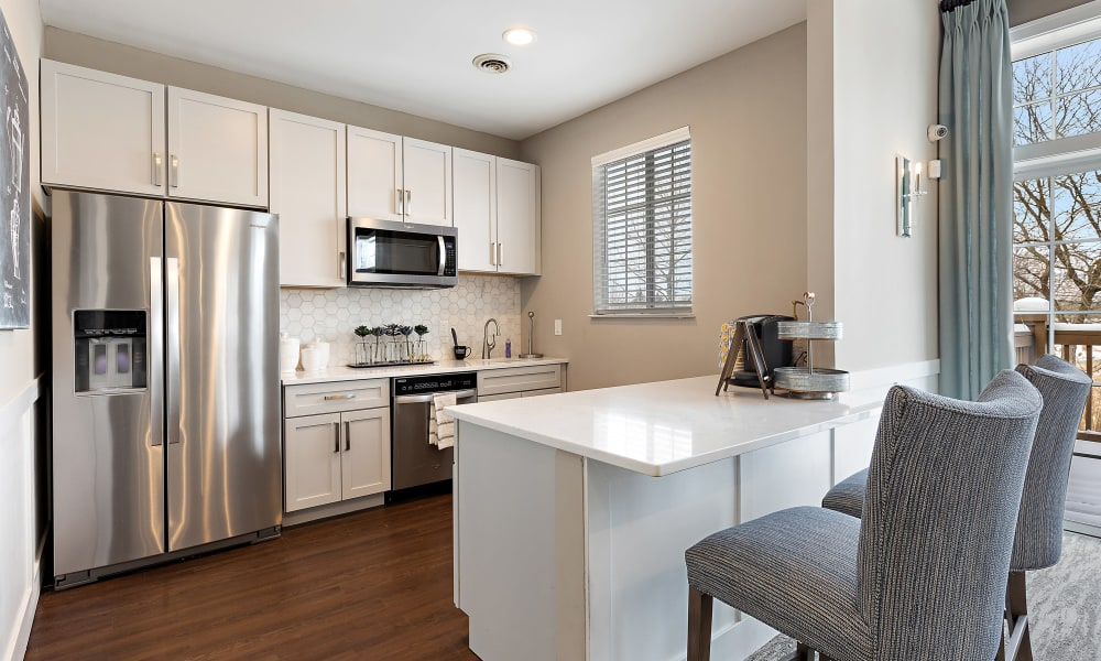 Resident kitchen at Brownstones community