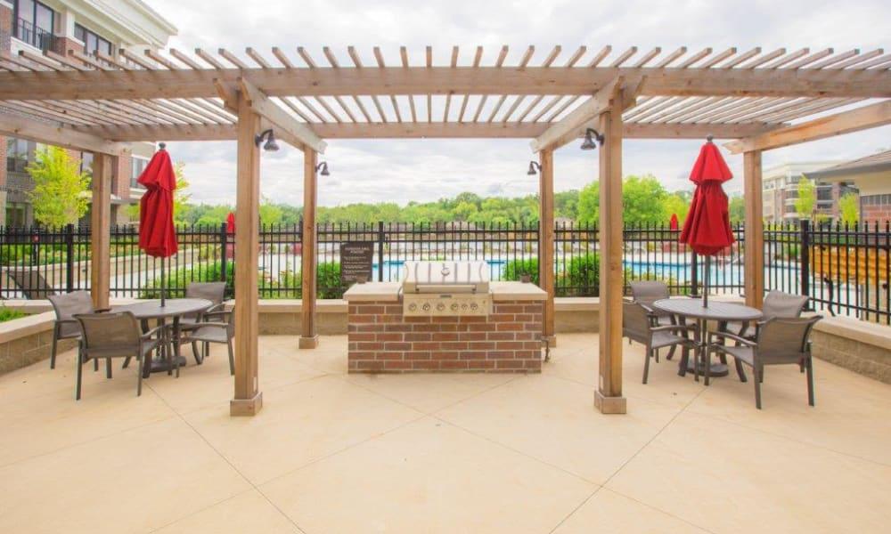 Outdoor veranda at Latitude at Deerfield Crossing in Mason, Ohio