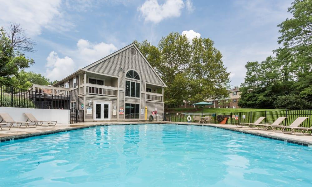 Sparkling pool at Mallard Lakes Townhomes in Cincinnati, Ohio